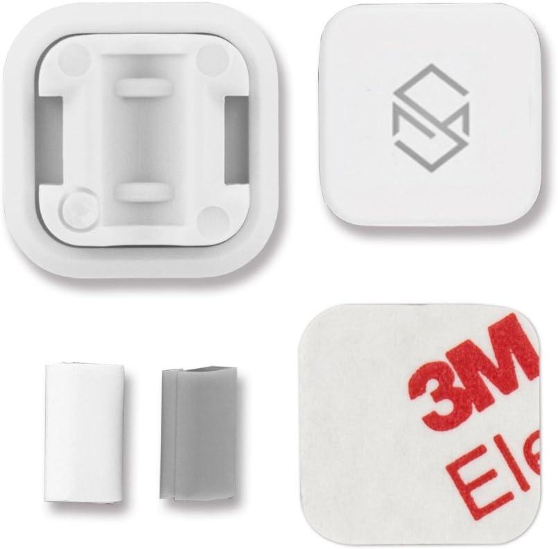 Selbstklebende magnetischer Kabelbinder 3er Pack. Magnetische Kabel-Clips//Kabelf/ührung//Organisation//Flexibles Kabelmanagement f/ür USB Kabel Sinjimoru Kabelhalterung Wei/ß