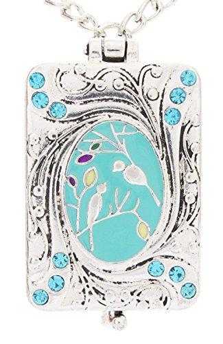 ue Birdsong Art Nouveau Vintage Locket Love Bird Necklace (Nouveau Locket)