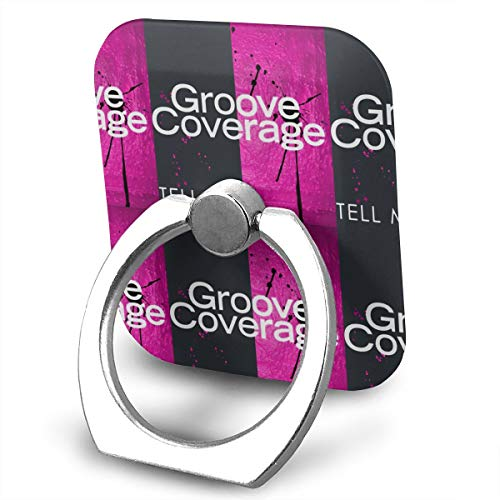 Groove Coverage Tell Me Cellstand Finger Ring Stand Holder, Car Mount 360 Degree Rotation Universal Phone Ring Holder Kickstand for iPhone/iPad/Samsung