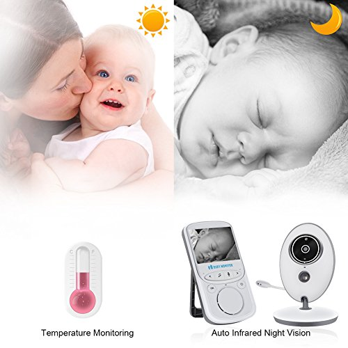 Baby Monitor, Video Baby Monitor 3.5″ Large LCD Screen, Baby Monitors with Camera and Audio Night Vision,960ft Range,ECO Mode,Two Way Talk BM1-33 Review