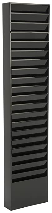 Displays2go File Folder Wall Rack, 20 Pockets, Tiered, Office U0026 Medical  Charts,