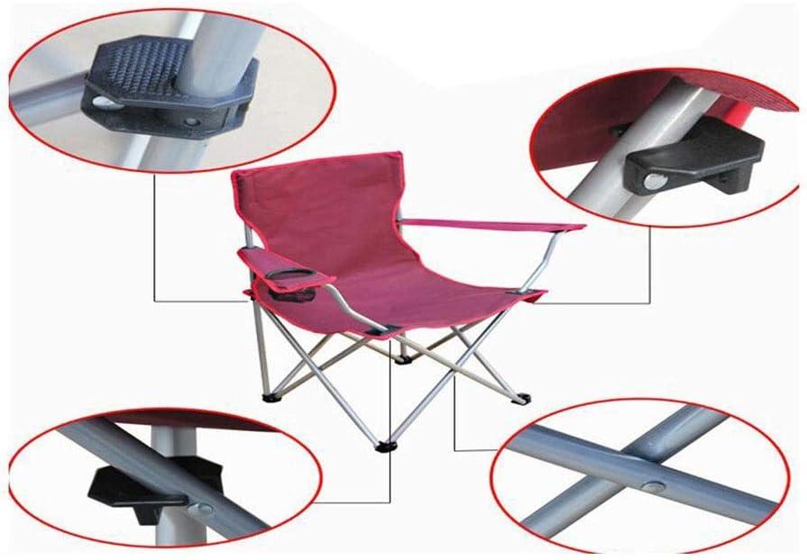 LIFUREN Outdoor Stool Folding Armchair Portable Fishing Chair Beach Chair Lounge Chair Armchair (Color : Green) Red