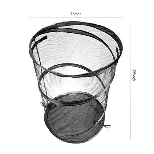 Ohuhu Pop Up Mesh Laundry Hamper Black 2 Pack Import