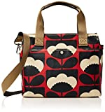 Orla Kiely Women's Spring Bloom Zip Messenger, Poppy