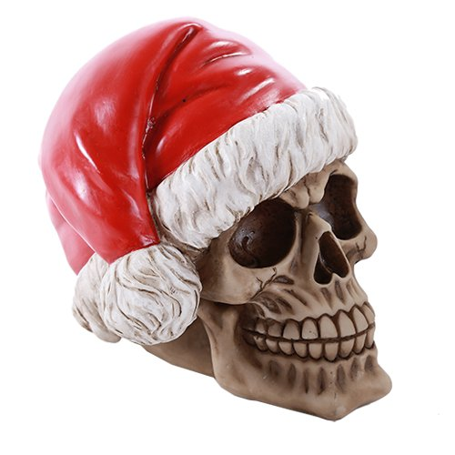Pacific Giftware Skull Santa Claus Skelly Claus Christmas Skull Money Bank