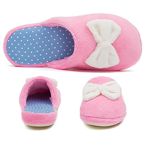 Winter Color Pure Pink Simple Home Slippers Cotton Warm Eastlion Slippers Female Y5aFwqF