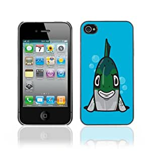 Designer Depo Hard Protection Case for Apple iPhone 4 4S / Angry Fish