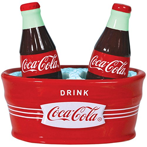 UPC 748787248030, Westland Giftware Magnetic Ceramic Salt and Pepper Shaker Set, 4.5-Inch, Ice Cold Coca-Cola