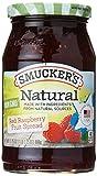 SMUCKER'S Natural Fruit Spread Jar, Red Raspberry, 17.25 oz