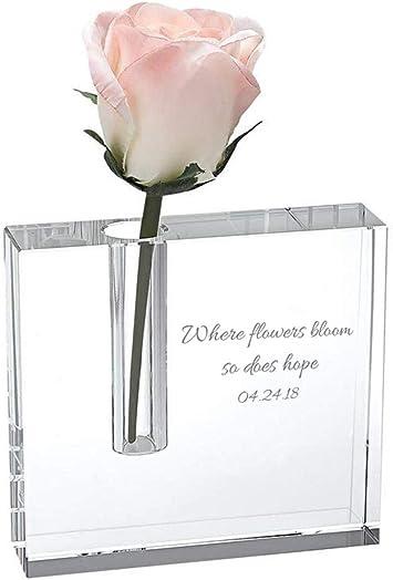 Badash Crystal 'The Block' 5″ Glass Flower Bud Vase