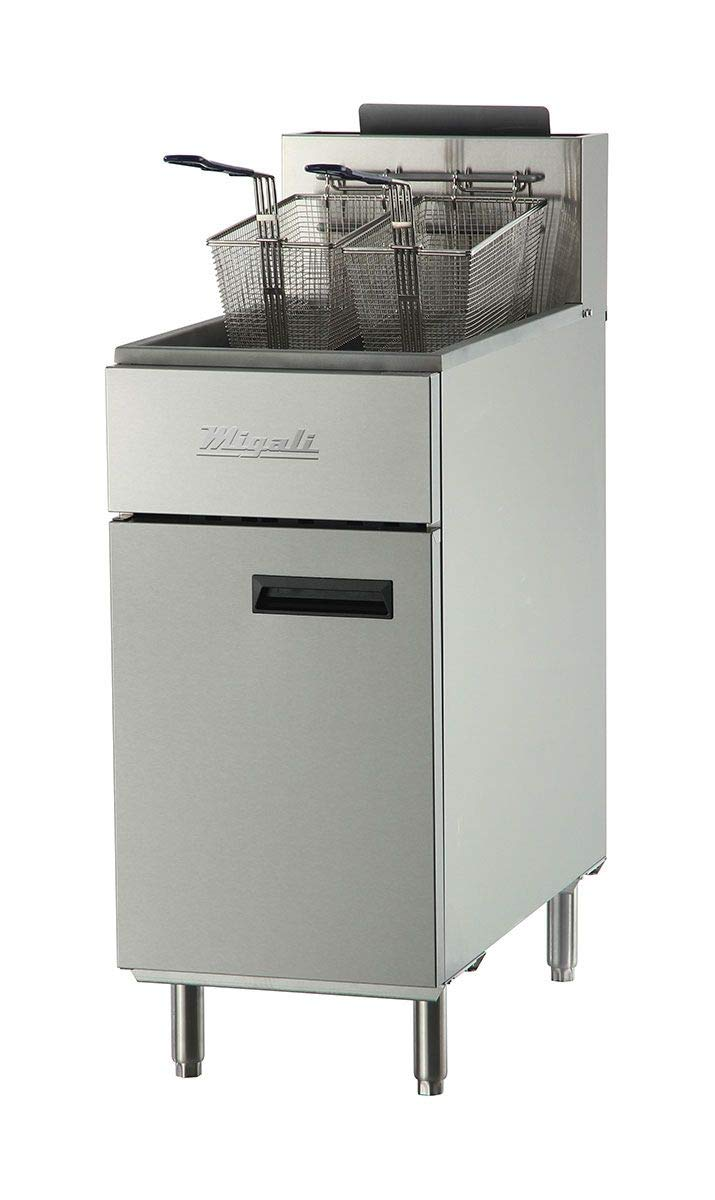 Migali C-F40-NG Competitor Series Fryer, Natural Gas, Floor Model, 15.6