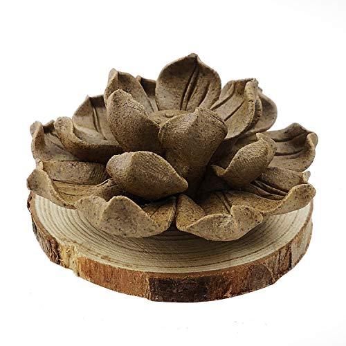 MAYMII·HOME Zen Garden Ceramic Handmade Artistic Incense Holder Burner Stick Coil Lotus Ash Catcher Buddhist Water Lily Plate.