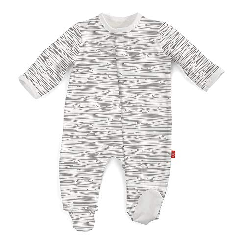 Magnetic Me by Magnificent Baby 100% Organic Cotton Magnetic Footie, Birch, Pre (>5 lb)]()