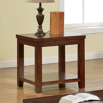 Superieur Estell Country Style Dark Cherry Finish End Table