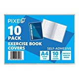 Pixel® Self Adhesive A4 Exercise Book Covers Clear Sheets (Pack of 10)