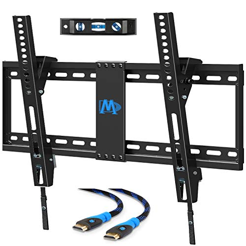 Mounting Dream Tilting TV Mount for Most 37-70 Inches Flat Screen TVs, TV Wall Mount up to VESA 600x400mm and 132 lbs - Low Profile & Space Saving for 16