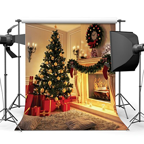 SJOLOON 10X10ft Christmas Photography Background Decoration Firewood Studio Backdrop JLT10275( NO INCLUDE THE STAND ! )