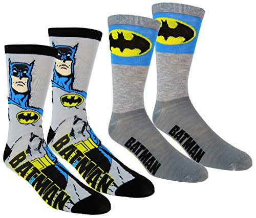 Batman-Mens-Casual-Crew-Socks-2-Pair-Pack
