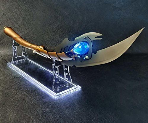 (Gmasking 2018 Metal Laufeyson Cosplay Light-up Scepter 1:1 Exclusive Props (Display Stand Base))