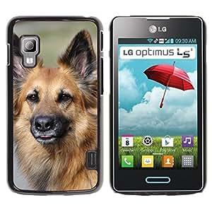 Etui Housse Coque de Protection Cover Rigide pour // M00108446 Híbrido del perro de Brown camarada // LG Optimus L5 II Dual E455 / E460