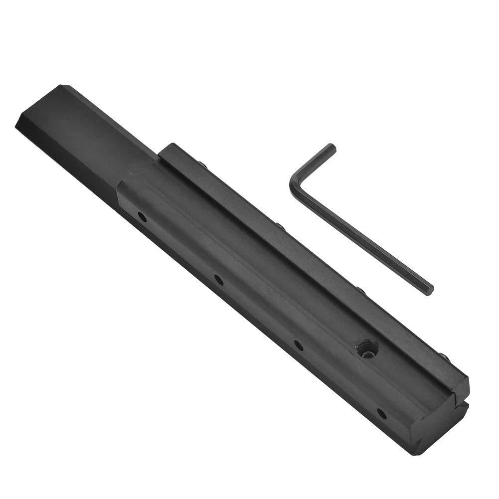 Alcance Mount Base Dovetail Picatinny Weaver Rail Extensión 11 mm A 20 mm Dovetail For Rifle Alomejor