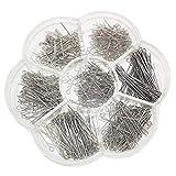 Chenkou Craft 700pcs Assorted of 7 Sizes Mix Eye Pins for Jewelry Making (Anti-Silver, Mix)