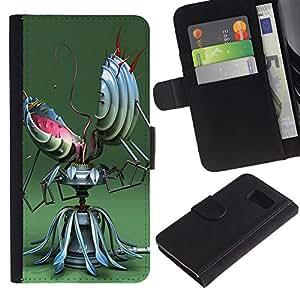 All Phone Most Case / Oferta Especial Cáscara Funda de cuero Monedero Cubierta de proteccion Caso / Wallet Case for Sony Xperia Z3 Compact // Funny Abstract Robot