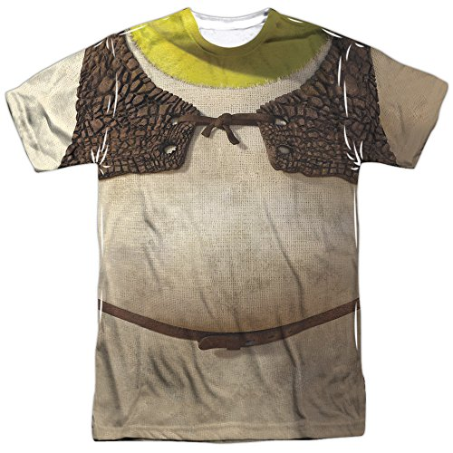 [Shrek Animated Family Comedy Movie Shrek's Ogre Costume Adult Front Print TShirt] (Lord Farquaad Musical Costume)