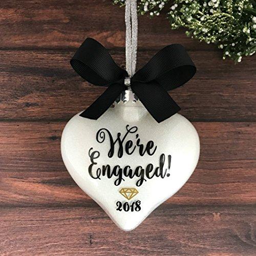 Personalized Engagement Ornaments, Engagement Christmas Ornament, Engaged Ornament, Engagement ()
