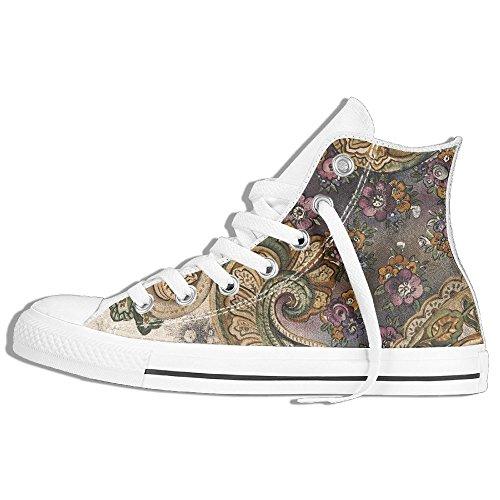 Sneaker Alta In Tela Con Disegno A Mano Yuyu