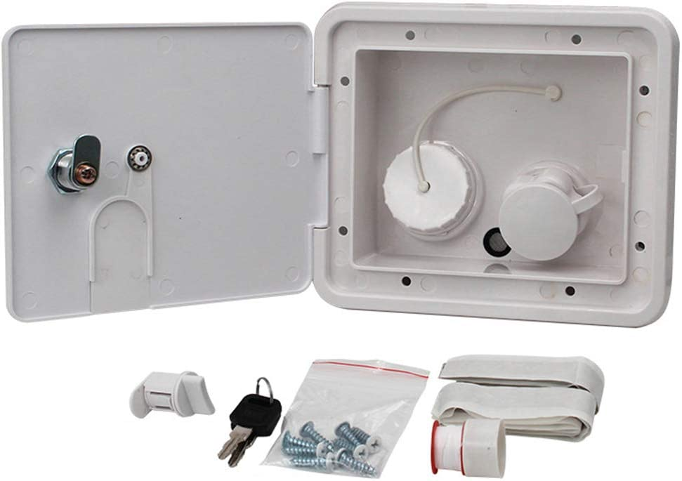 beiyoule Gravity City Water Inlet Fill Dish Hatch Lock for RV Trailer Cars for Most Fresh Water Inlets on RV Motorhomes Caravans & Boats