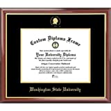 Washington State University Cougars - Embossed Seal - Mahogany Gold Trim - Diploma Frame