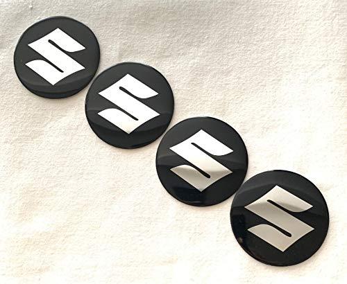 Suzuki Emblema Rueda Centro Tapa Adhesivo Logotipo Tapacubos - 55 mm Dome - Juego de 4: Amazon.es: Coche y moto