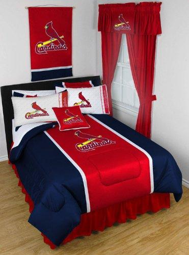 MLB St Louis Cardinals Baseball Set of 2 Logo Pillow Cases