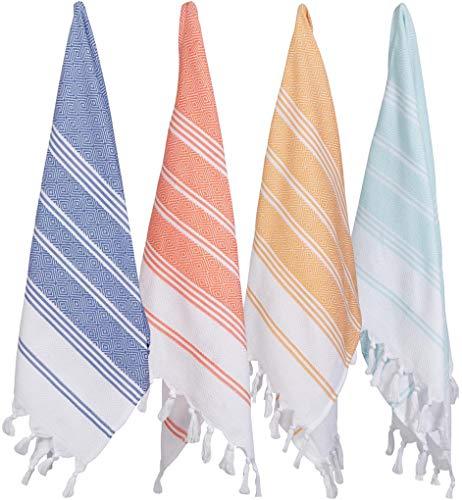 ((Set of 4) Unique Hand Face Towel Set Turkish Cotton 20
