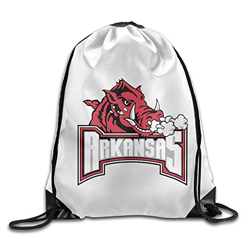 Bekey University Of Arkansas Razorbacks Gym Drawstring Backpack Bags For Men & Women For Home Travel Storage Use Gym Traveling Shopping Sport Yoga - Arkansas Shopping Fayetteville