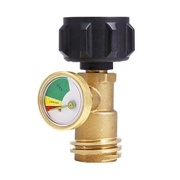 Alexsix Detector de Fugas del medidor de Gas del Tanque de propano Medidor de presión del Gas del Tanque de propano Universal: Amazon.es: Deportes y aire ...