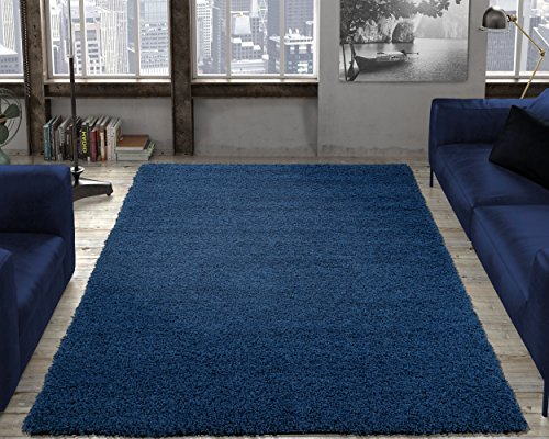 Ottomanson Cozy Color Solid Shag Contemporary Living and Bedroom Soft Shaggy Kids Area Rug, 3'3