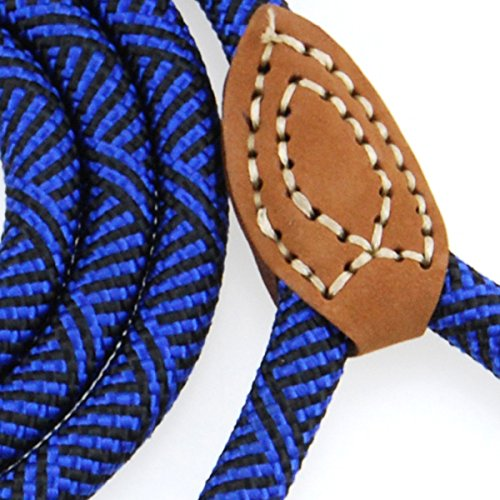 Picture of Mile High Life Leather Tailor Handle Mountain Climbing Dog Rope Leash with Heavy Duty Metal Sturdy Clasp (Blue, 6 FT)