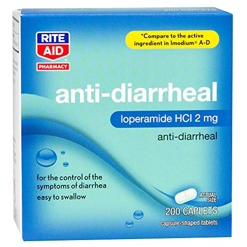 Rite Aid Anti Diarrhea Medicine - Loperamide Hydrochloride 2mg | 200 Ct