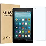 All-New Fire 7 2017 Screen Protector, GreenElec Ultra Clear 9H Anti-Scratch Tempered Glass Screen Protector for All-New 7 Tablet with Alexa (7th 2017 Release) [Bubble-Free] [0.3mm]