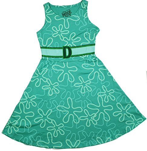 Disgust Costume Women (Inside Out Pixar Disney I Am Disgust Costume Juniors Dress (Large, Green))
