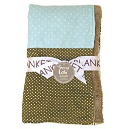 Trend Lab Cocoa Mint Multi-Patched Receiving Blanket