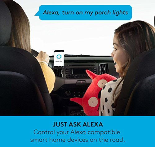 Logitech ZeroTouch with Amazon Alexa - Hands-free Car Mount and Voice Assistant App - exclusively for Android Phones - Dashboard Mount by Logitech (Image #3)
