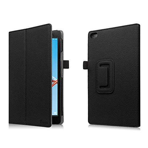 Fintie Lenovo Tab 4 8 Case - Premium PU Leather Folio Cover With Stylus Holder for Lenovo Tab4 8-Inch Android Tablet (2017 Release), Black by Fintie (Image #8)