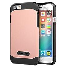 "iPhone 6 4.7"" Case [Scorpio R5] Premium Protection Cover w/ Screen Guard (Rose Gold)"