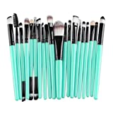 Pooqdo 20 pcs Makeup Brush Set tools Make-up Toiletry Kit Wool (Black)