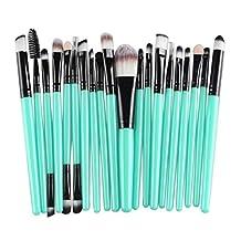 Makeup Brush Set, Pooqdo 20Pcs Beauty Wool Brushes Kits (Black)