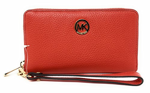 Michael Kors Fulton Large Flat Multifunction Leather Phone Case (Dark - Clear Kors Michael Handbag