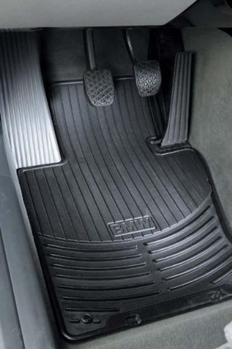 BMW FRONT Black X5 E53 All Season Floor Mats 2001 - 2006 Genuine Factory OEM 82550151189 (set of 2 front (Bmw Front Floor Mat)